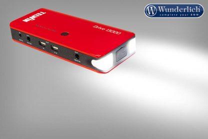 Portable 12 V emergency starter & USB Power Bank Drive 13000 – red