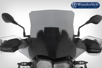 Wunderlich windshield MARATHON – Carrier long (160mm) – smoked grey