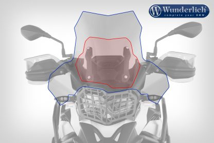 Wunderlich Windscreen EXTREME – Carrier short (115mm) – clear