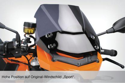 DualSport windscreen – dark tint