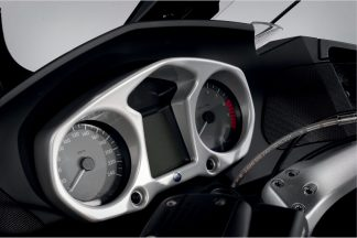 Instrument Surround with Visor – silver