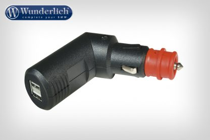 Angled dual USB charging plug