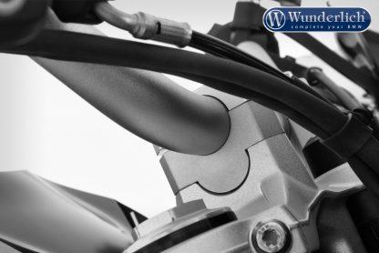 Wunderlich ERGO handlebar riser for models without a BMW sat nav – silver