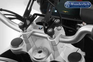 Wunderlich ERGO handlebar riser for models with BMW sat nav – silver