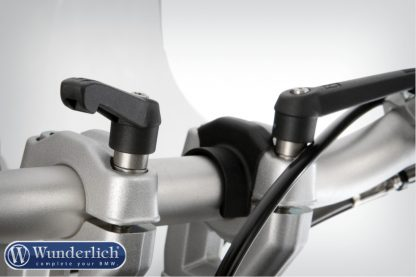 Quick release clamp bolts without handlebar riser  black