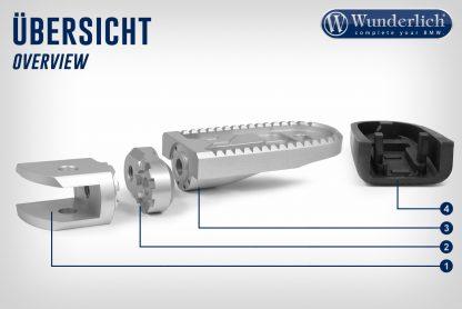 Wunderlich Vario joint passenger EVO1 (pair) – silver