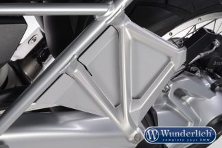 Passenger seat recess cover  silver