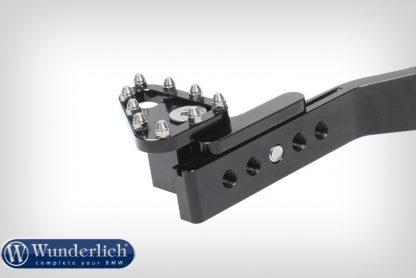 Adjustable foot brake lever  black