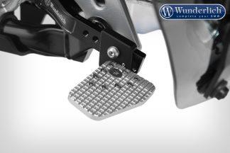 Wunderlich foot brake lever width extension – silver
