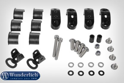 Mounting kit orig. additional lamps for Wunderlich tank protection bar  black