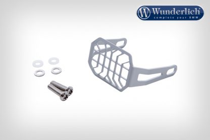 Protective grate for auxiliary Microflooter headlights  silver