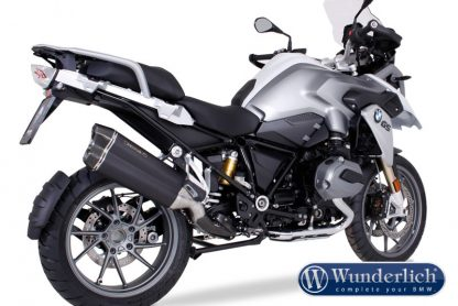 Remus 8 R 1200 GS LC stainless steel (Euro4) – black