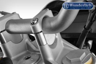 Handlebar riser for Models without BMW Navigation System 25mm – silver