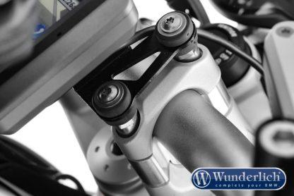 Special screws for handlebar riser with navigation