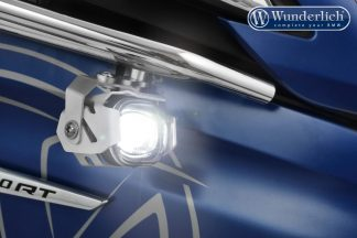 Wunderlich LED additional headlight Micro Flooter for tank bars  SILVER