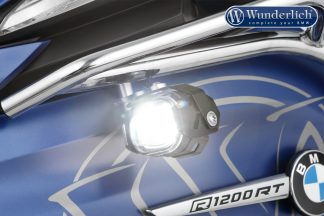Wunderlich LED additional headlight Micro Flooter for tank bars BLACK