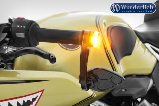 Wunderlich adapter handlebar end mirror for indicator Pin R nineT – black