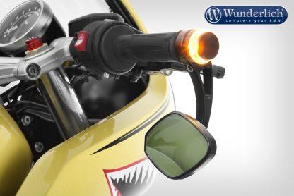 Wunderlich adapter handlebar end mirror for indicator Pin R nineT – black