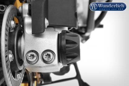 Wunderlich DOUBLESHOCK axle crash pads – front – black