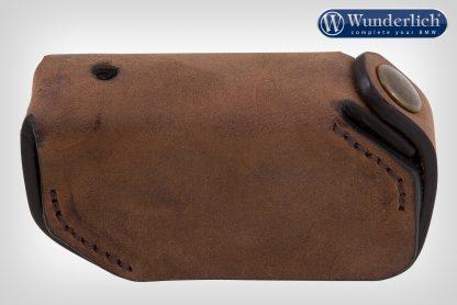 Wunderlich key pouch leather keyless ride  brown