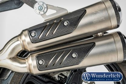 Exhaust heat guard (2-part) – carbon