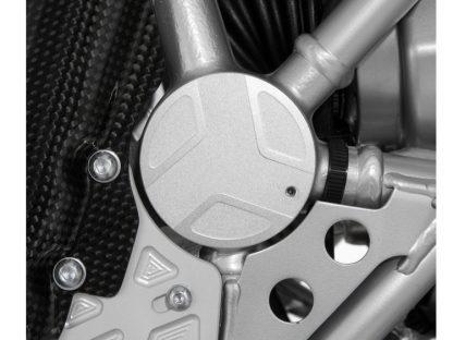 Swingarm pivot covers EDGE design right – silver